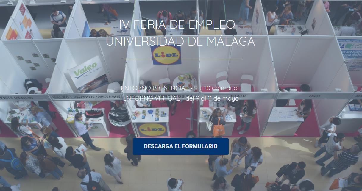 IV EDICIÓN DE LA FERIA DE EMPLEO DE LA UNIVERSIDAD DE MÁLAGA