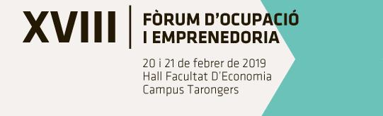 XVIII Foro de Empleo y Emprendimiento de la Facultat d'Economia